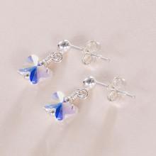 Crystal Butterfly Earrings.