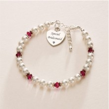 Birthstone Bracelet with Engraving