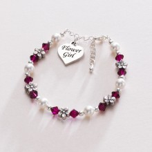 Flower Girl Love Heart Bracelet