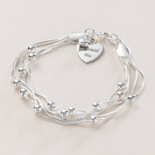 Personalised Multi Strand Bracelet With Engraving