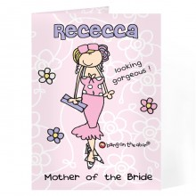 Personalised Bang On The Door Wedding Woman Card