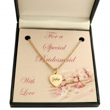 Flower Girl / Bridesmaid Rose Gold Name Necklace