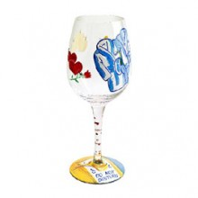 Lolita Do Not Disturb Wine Glass