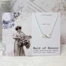 Maid of Honor Crystal Infinity Necklace
