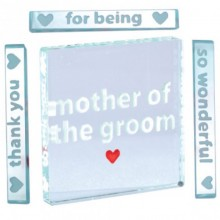 Spaceform Mother of The Groom Glass Token