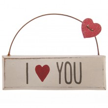 I Love You Hanging Plaque