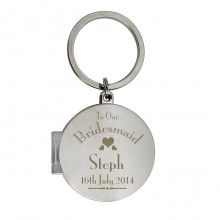 Bridesmaid Round Photo Keyring