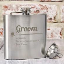 Groom Personalised Hip Flask