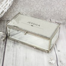 Classic Mirrored Personalised Jewellery Box