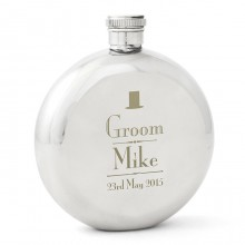Wedding Round Hip Flasks
