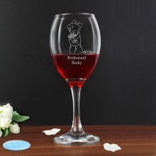 Me To You Personalised Wedding Female Wine Glass