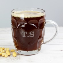 Personalised Initial Tankard Pint Glass