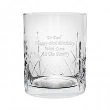 Whisky Personalised Crystal Tumbler