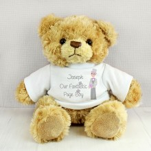 Personalised Fantastic Page Boy Message Bear