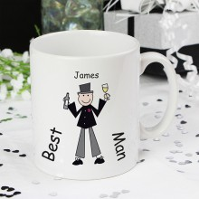 Male Wedding Character Large Mug