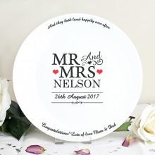 Personalised Mr & Mrs Plate