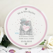 Me To You Wedding Couple Plate