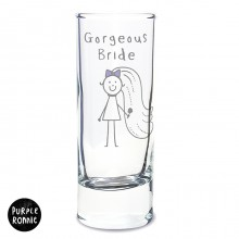 Purple Ronnie Bride Shot Glass