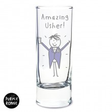Purple Ronnie Male Wedding Shot Glass