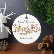 Christmas Round Ceramic Decoration