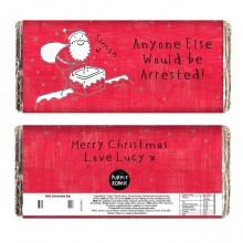 Purple Ronnie Male Christmas Chocolate Bar