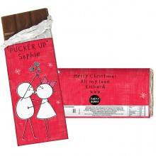 Purple Ronnie Christmas Couple Chocolate Bar