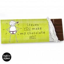 Purple Ronnie You Make My Chocolate HOT… Chocolate Bar
