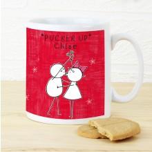 Purple Ronnie Christmas Couple Mug