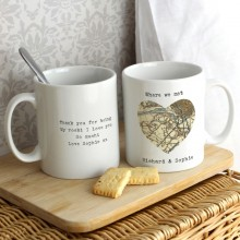 Heart Map Personalised Mug