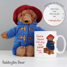 Personalised Paddington Mug With Bear