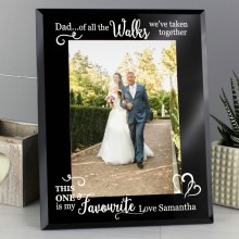 Personalised 'Of All the Walks...' Frame