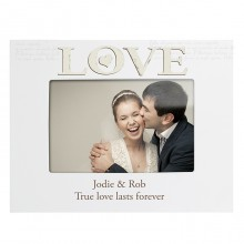 Personalised Love White Photo Frame