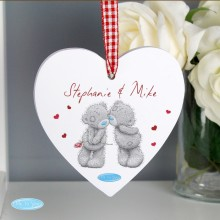 Me to You Couples Wooden Heart Personalised Decoration