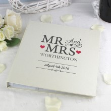 Personalised Mr And Mrs Album with Sleeves