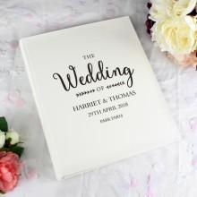 Rustic Personalised Wedding Album