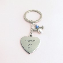 Something Blue Guardian Angel Keyring