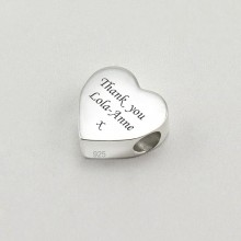 Engraved Sterling Silver Charm Bead