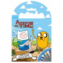 Adventure Time Carry Along Colouring Set