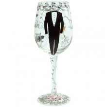 Groom Wine Glass by Lolita