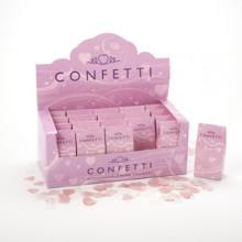 White & Pink Tissue Paper Confetti
