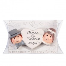 Personalised Wedding Bride and Groom Keepsake