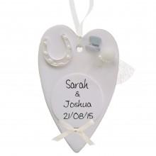 Wedding Heart Plaque