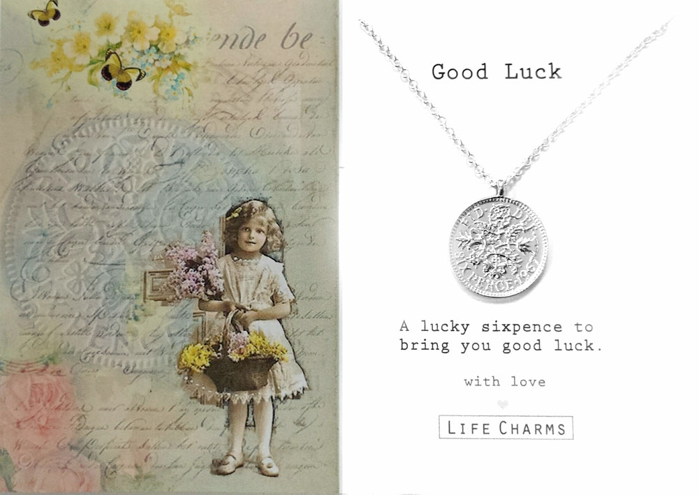 Joint Wedding Gifts For Parents : Lucky Sixpence Necklace Bridal Gift Box
