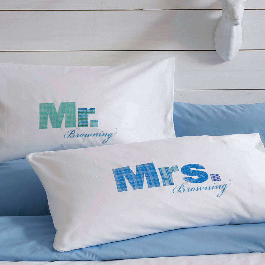 Joint Wedding Gifts For Parents : Mr & Mrs Pillow cases