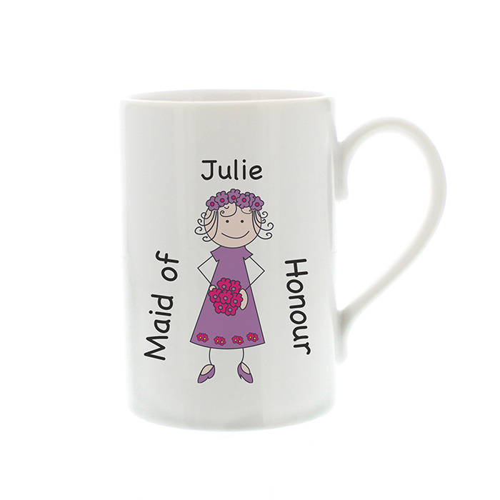 Joint Wedding Gifts For Parents : Personalised Bridesmaid Mug Bridal Gift Box