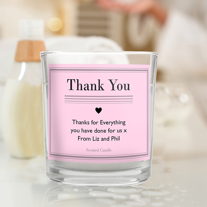 Joint Wedding Gifts For Parents : Classic Pink Scented Jar Candle The Bridal Gift Box