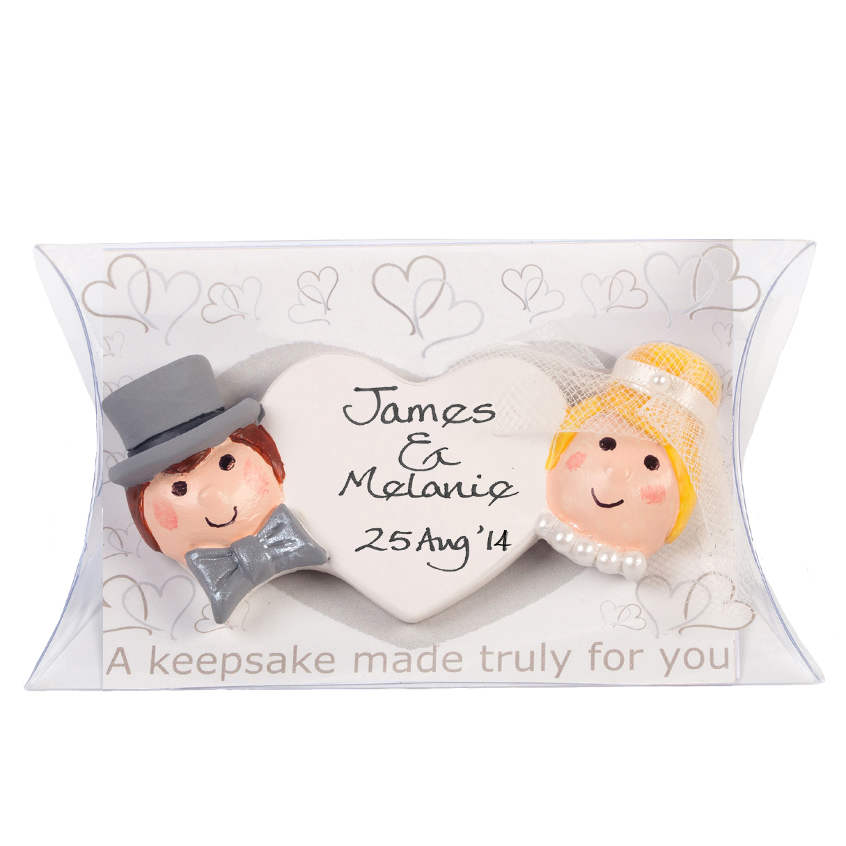 Joint Wedding Gifts For Parents : Personalised Wedding Bride and Groom Keepsake