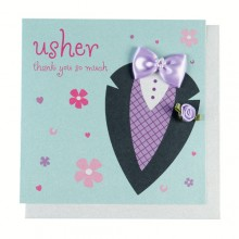 Usher Thank You Card