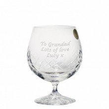Personalised Crystal Brandy Glass - Small or Large