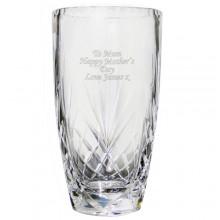 Personalised Oval Crystal Vase